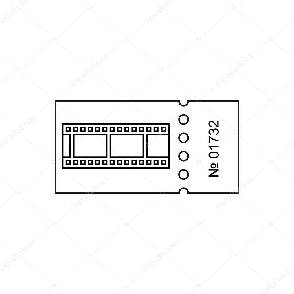 Ticket-Gliederung-Symbol — Stockvektor © fx218 #111253608