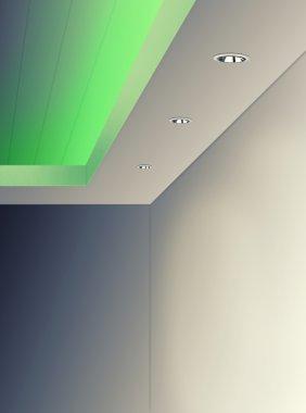 Interior Lighting on Ceiling Using Downlight