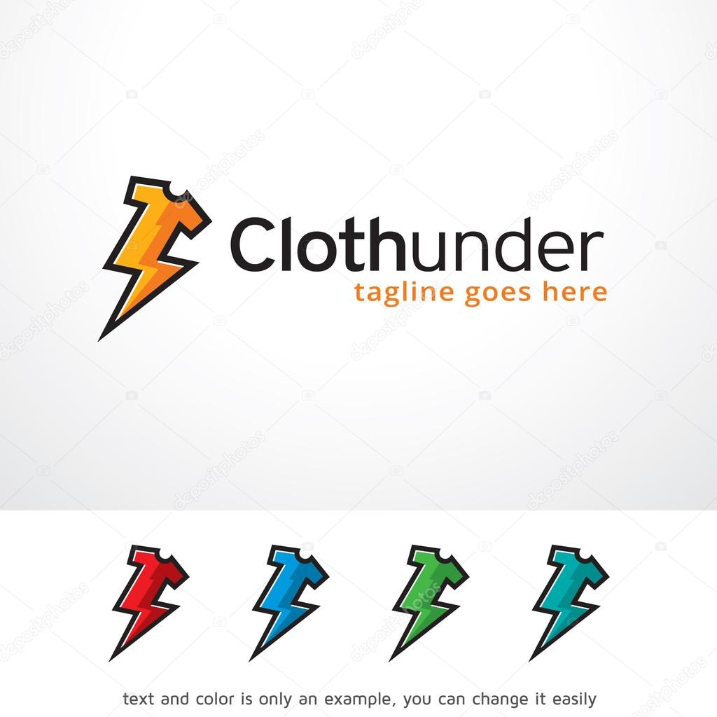 Cloth Thunder Logo Template Design Vector — Stock Vector ...