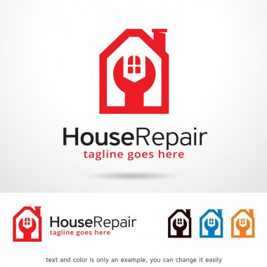 House Repair Logo Template Design Vector