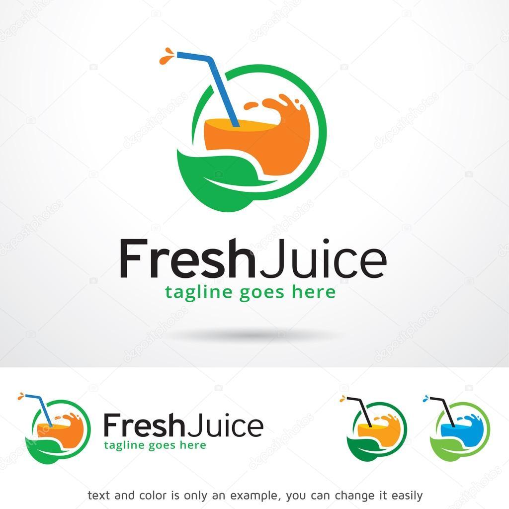fresh juice logo template design vector � stock vector