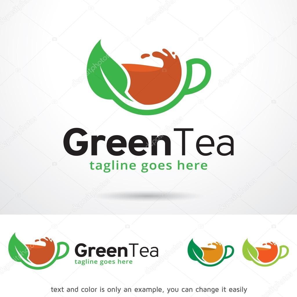 Green Tea Logo Template Design Vector