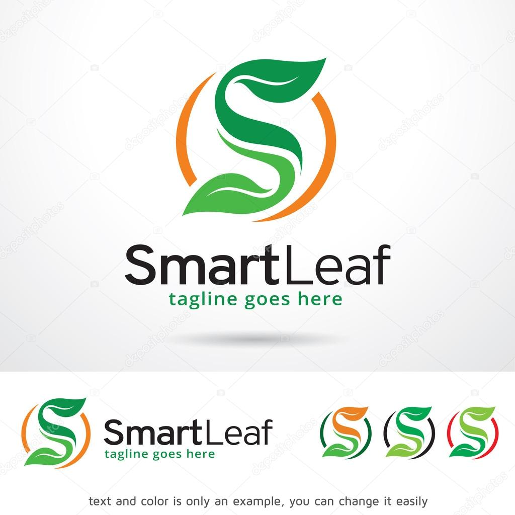 Smart Leaf Letter S Logo Template Design Vector