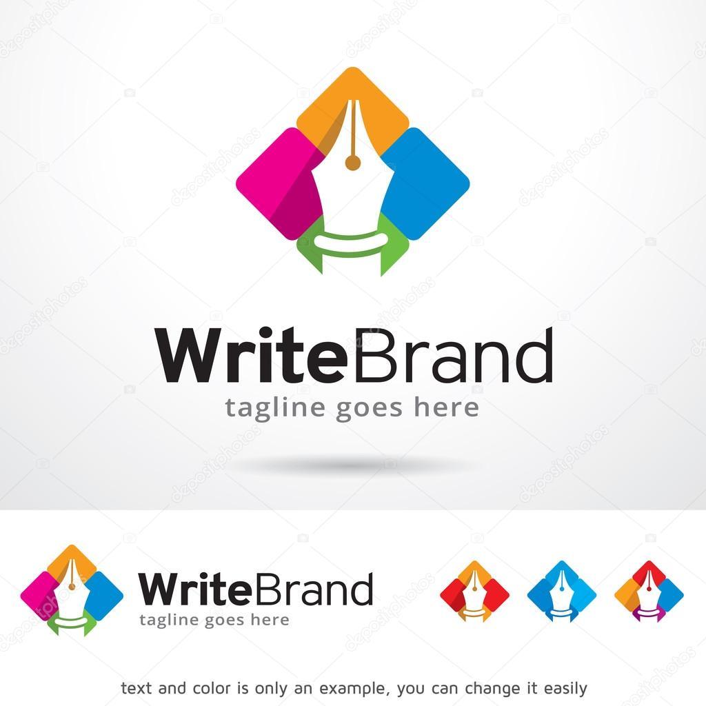Escribir marca Logo plantilla diseño Vector — Archivo Imágenes ...