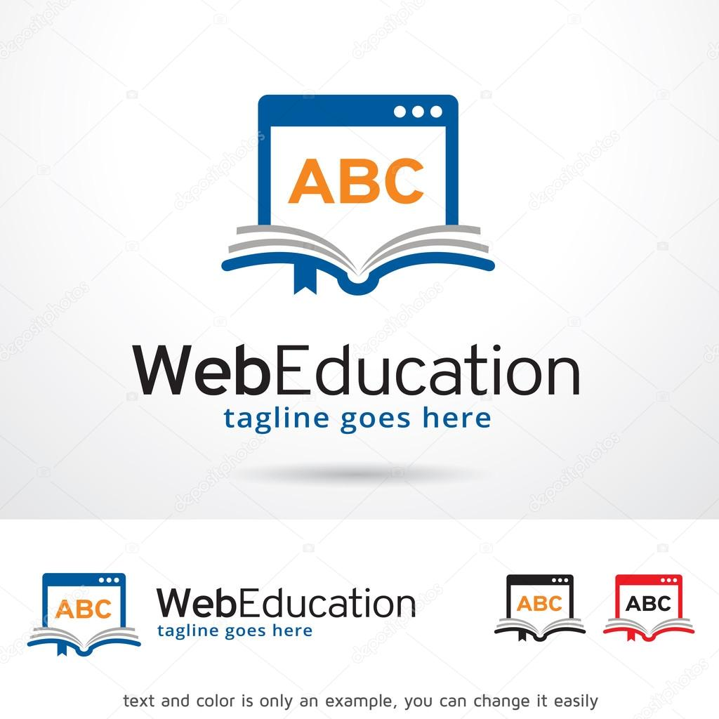 Web Education Logo Template Design Vector