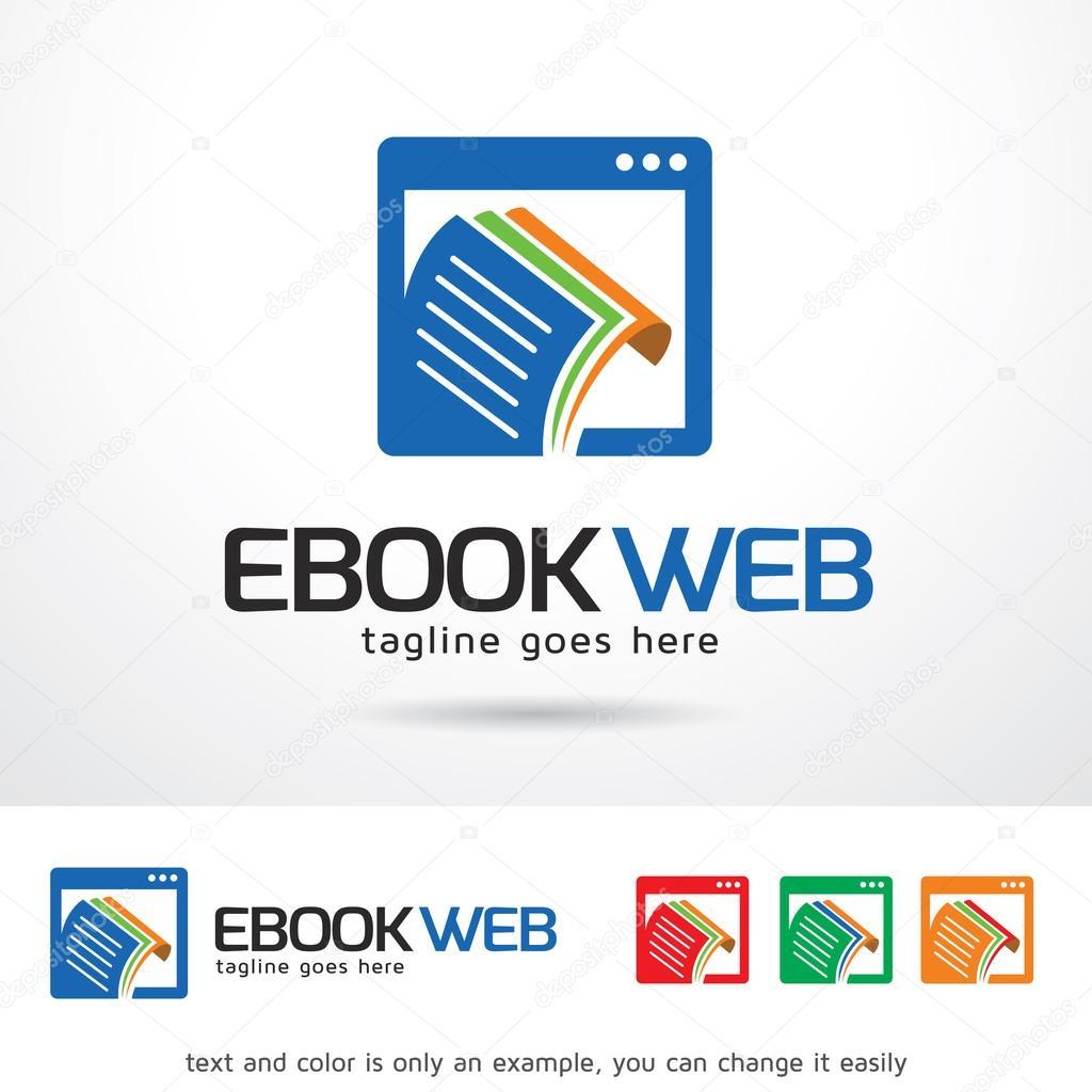 Web de Ebook Logo plantilla diseño Vector — Archivo Imágenes ...