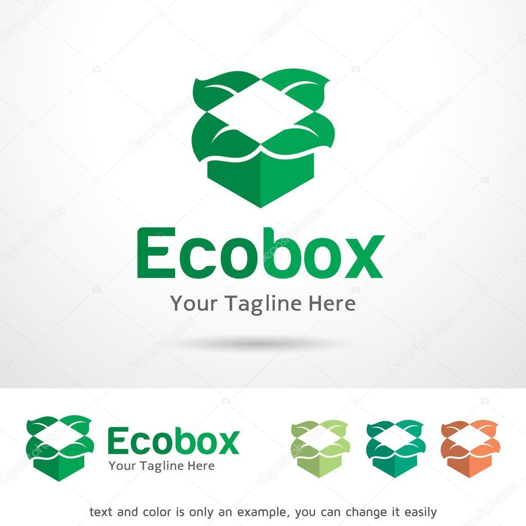 Eco Box Logo Template Design Vector
