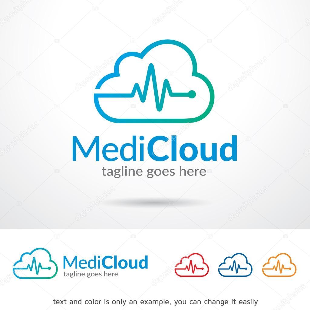 medic cloud logo template design vector stock vector