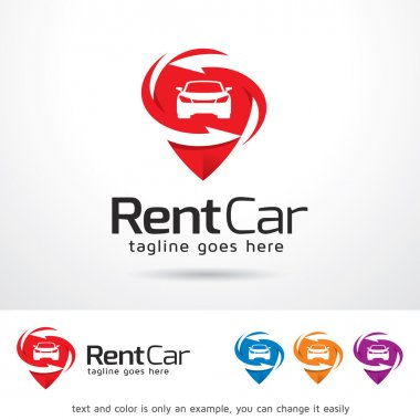 Rent Car Logo Template Design Vector