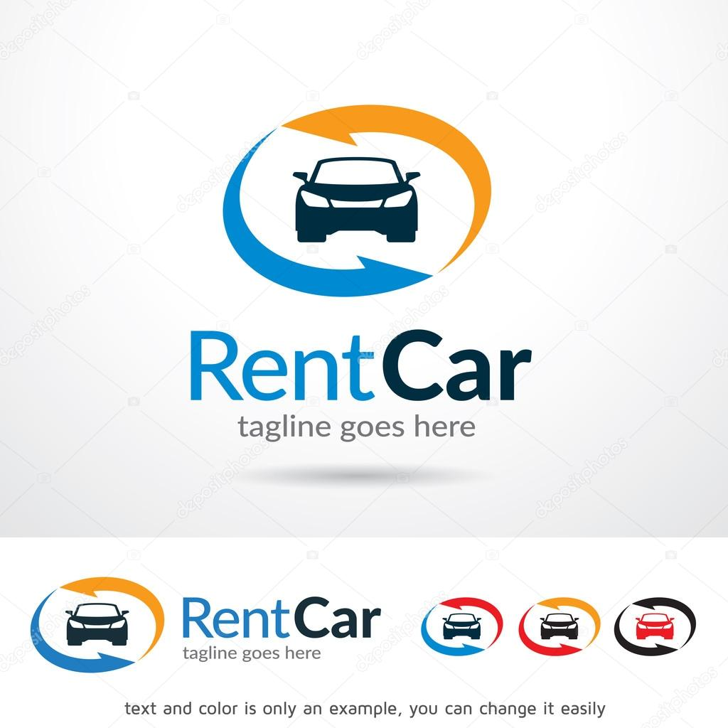 Alquiler coche Logo plantilla diseño Vector — Archivo Imágenes ...