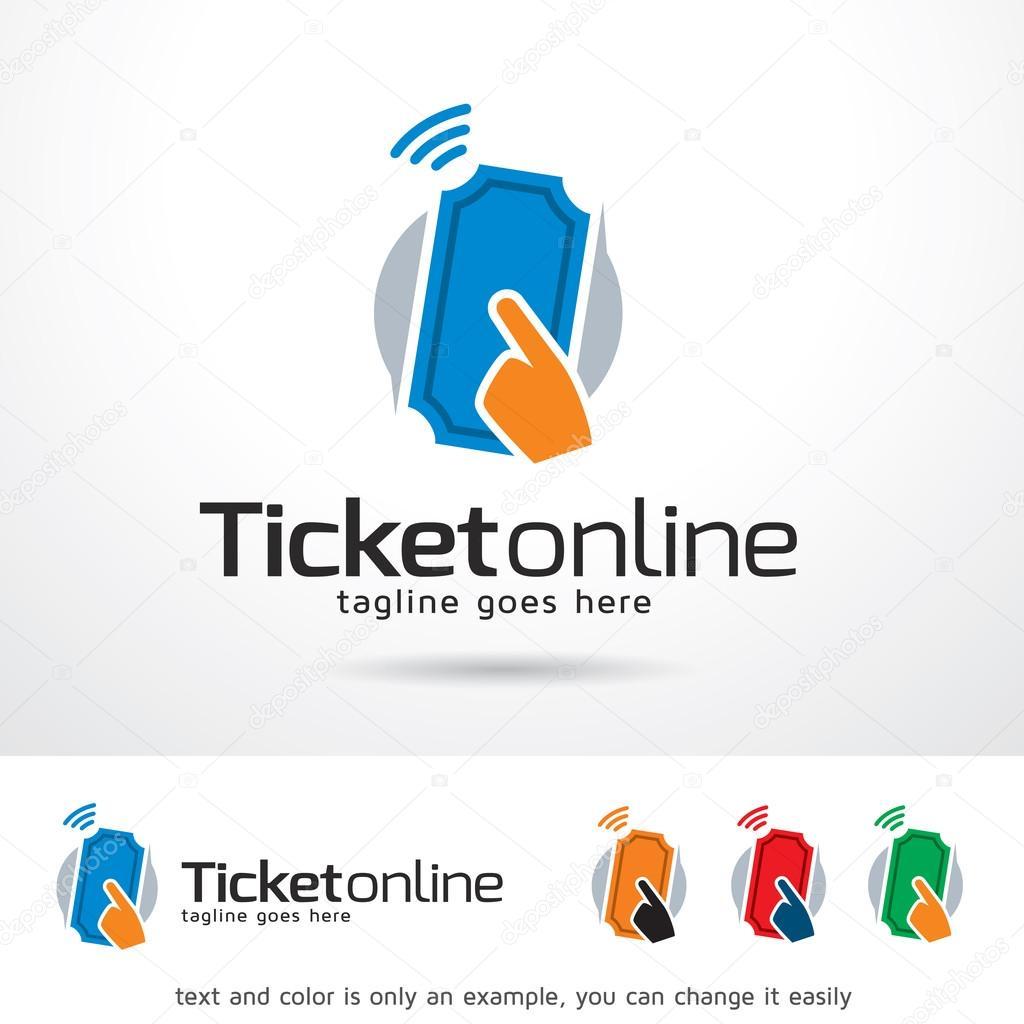 Venta de entradas Online Logo plantilla diseño Vector — Archivo ...