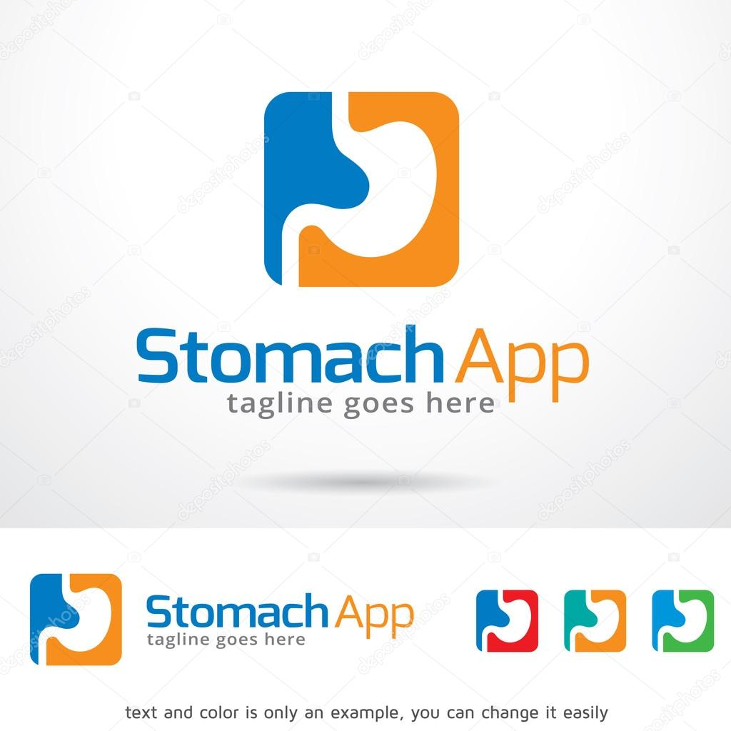 stomach app logo template design vector stock vector