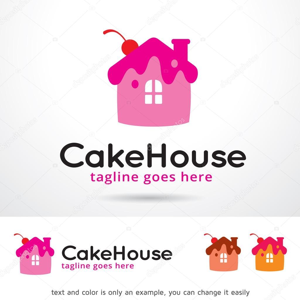 Cake House Logo Template Design Vector Stock Vector