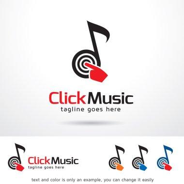 Click Music Logo Template Design Vector