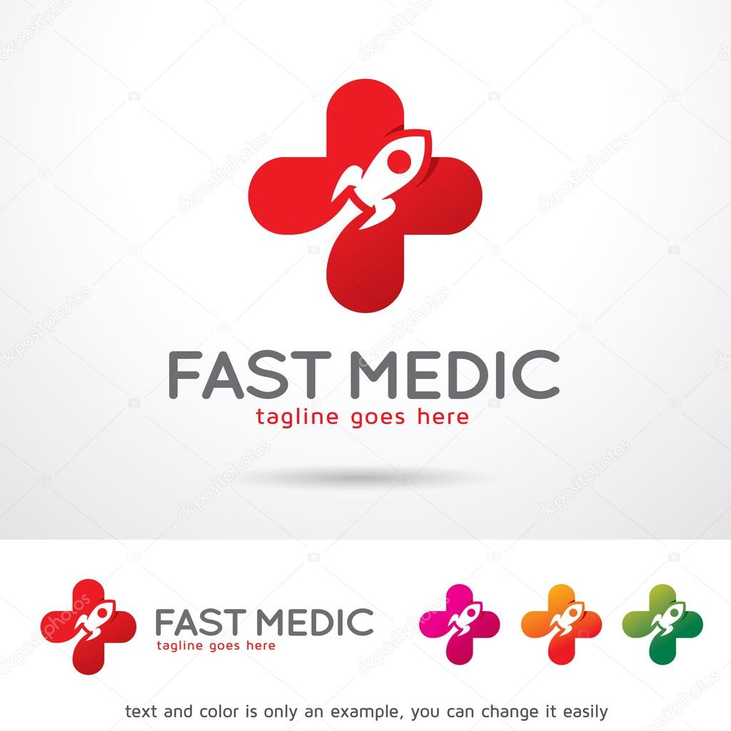 fast medic logo template design vector stock vector