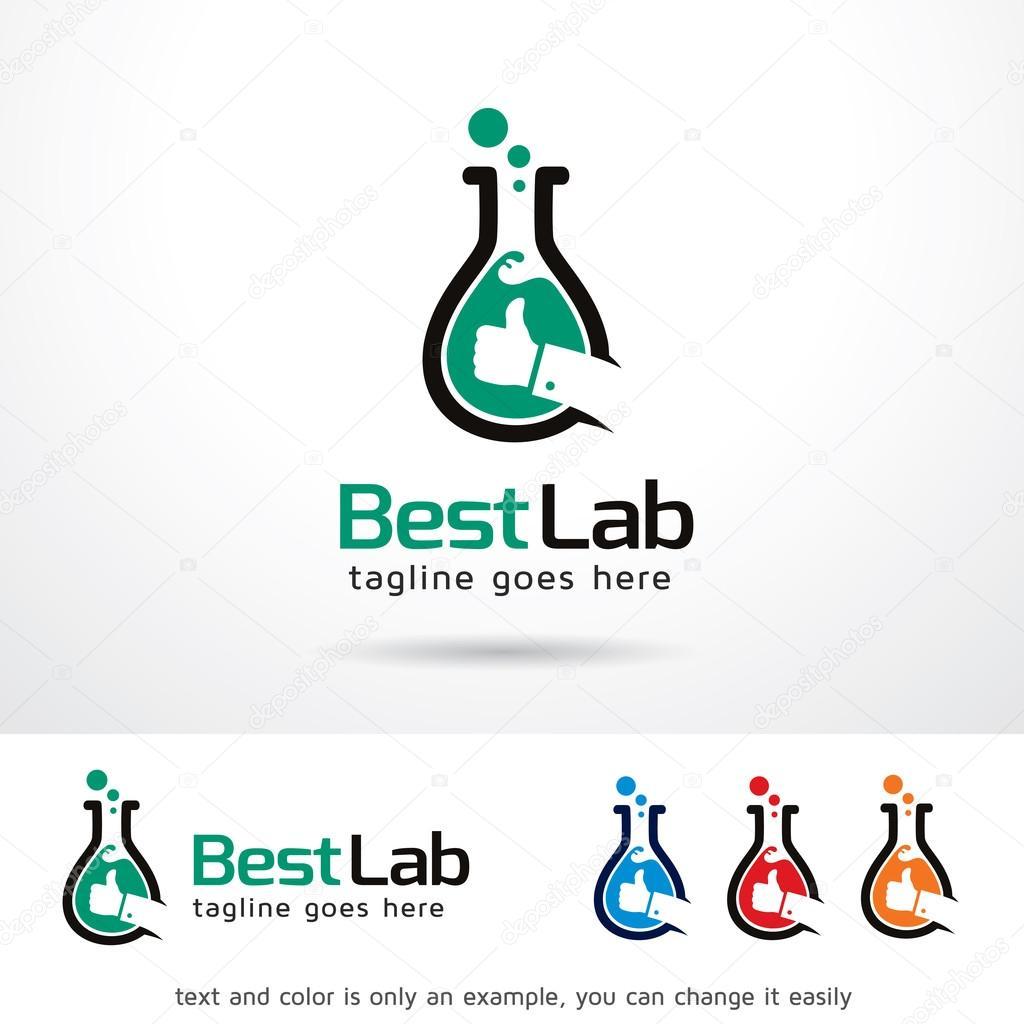 Mejor laboratorio Logo plantilla diseño Vector — Archivo Imágenes ...
