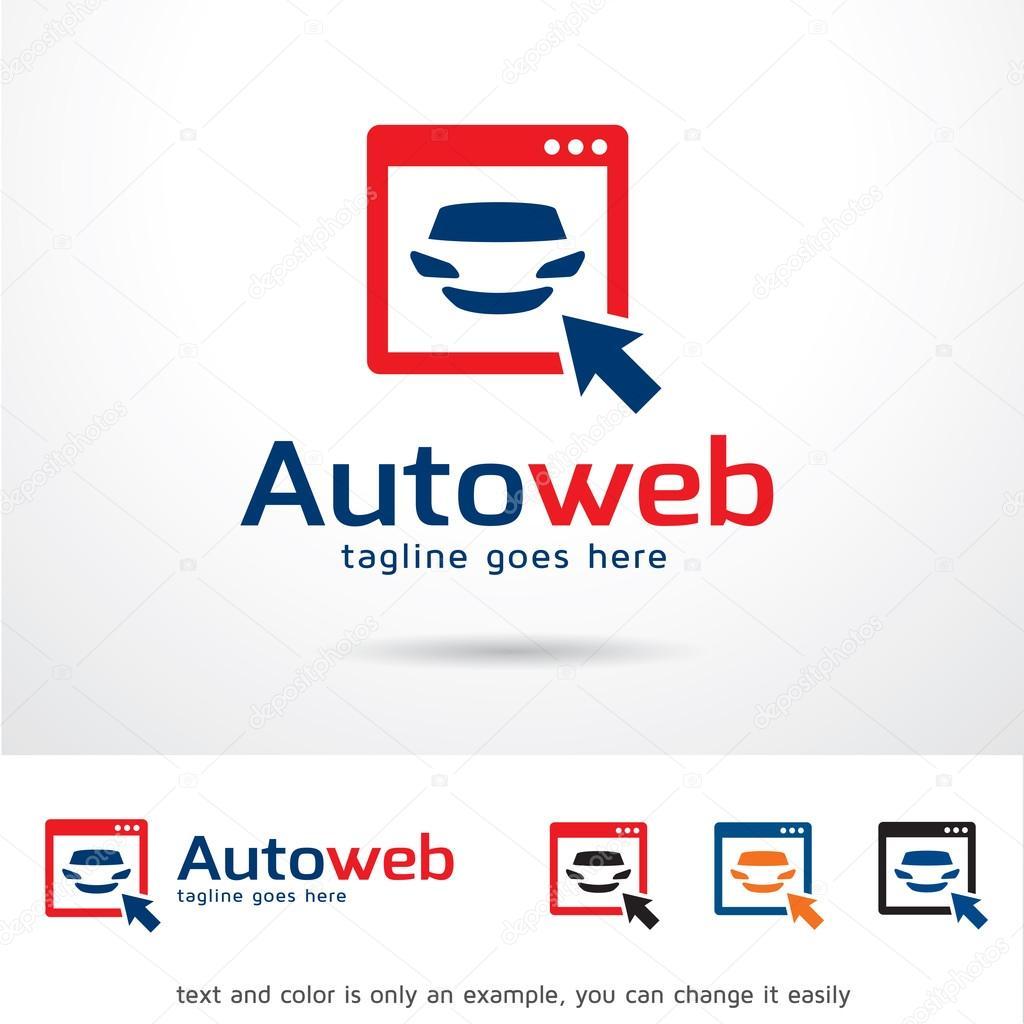 Auto Web logotipo plantilla diseño Vector — Vector de stock ...