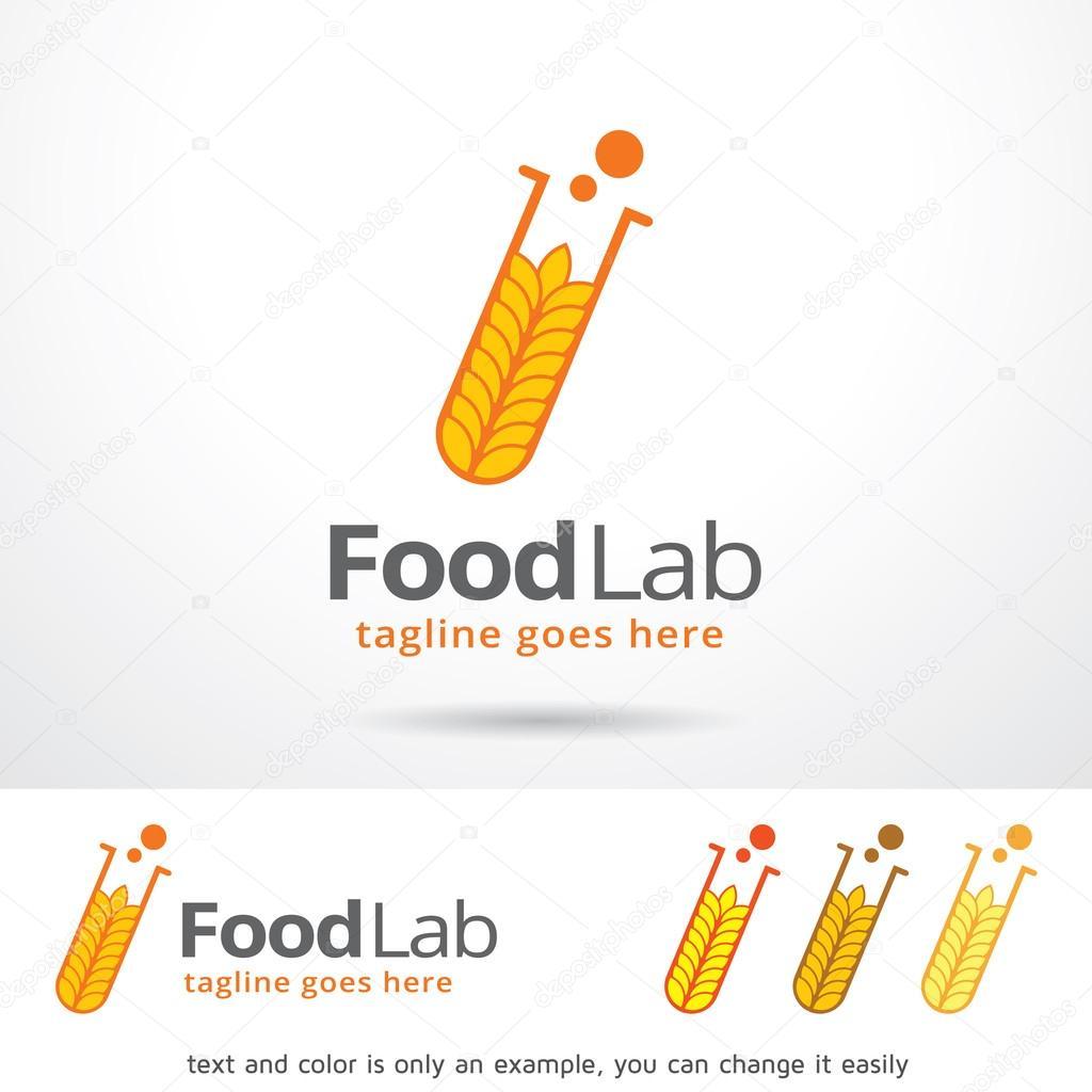 Alimentaria laboratorio Logo plantilla diseño Vector — Archivo ...