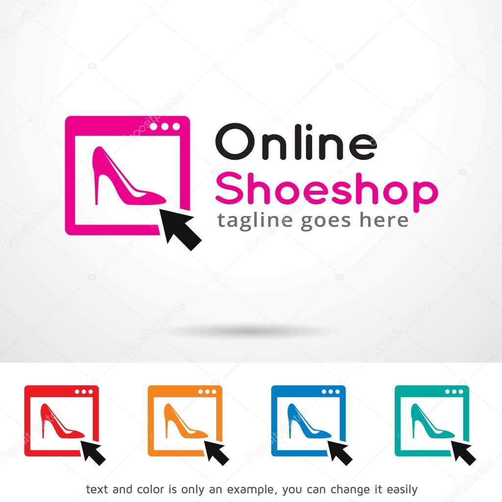 Online Shop Logo Template Design Vector Stock Vector