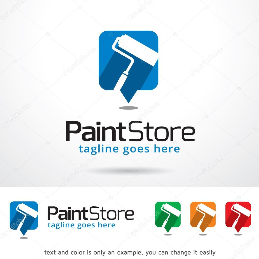 paint store logo template design vector — stock vector