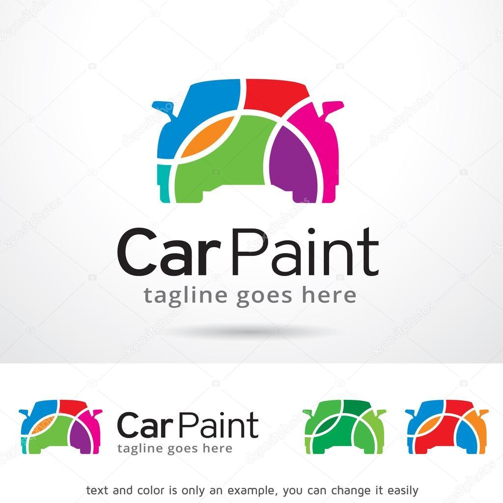 Coche pintura Logo plantilla diseño Vector — Vector de stock ...