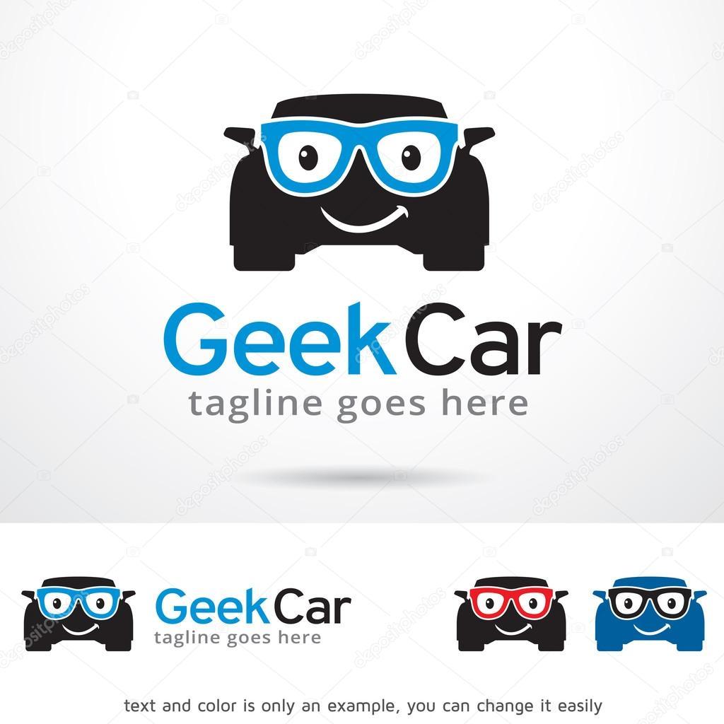 Friki coche Logo plantilla diseño Vector — Vector de stock ...