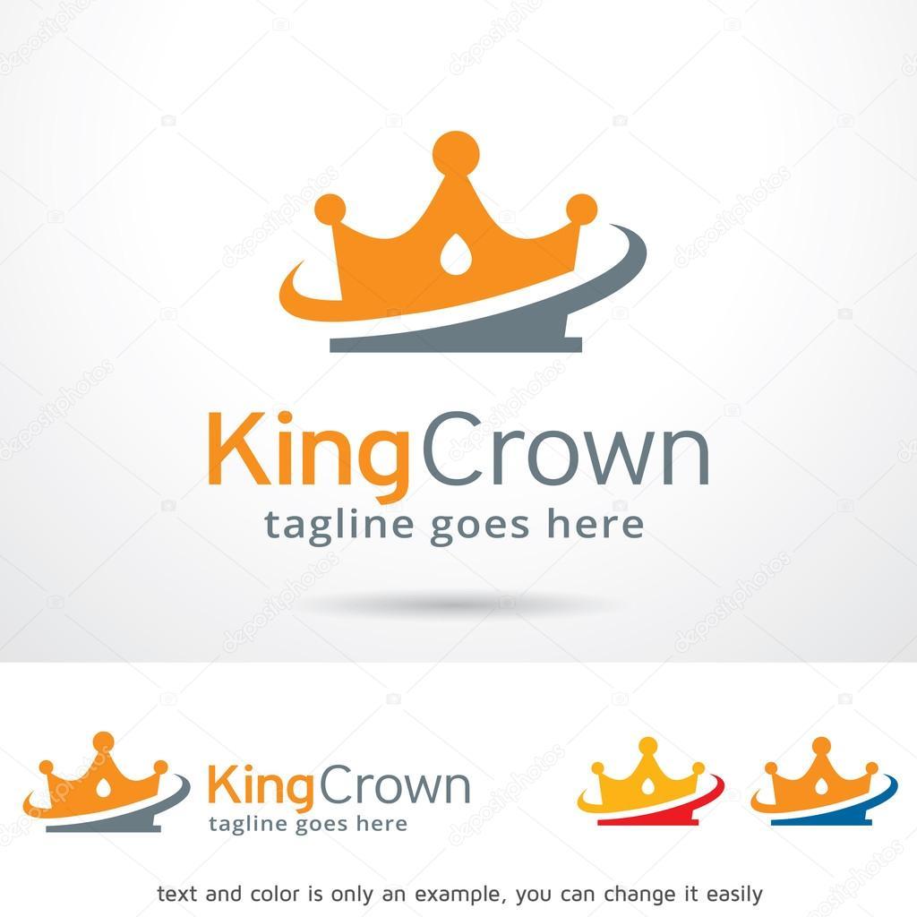 Vector de diseño de plantilla Logo corona de rey — Vector de stock ...