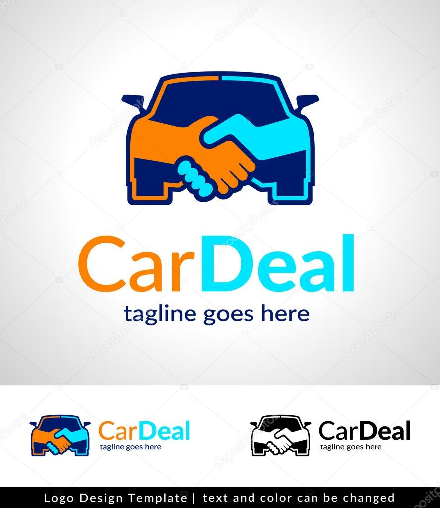 Car Deal Logo Design Template  - vector