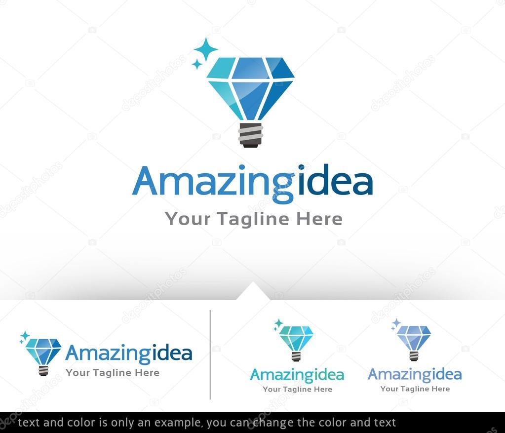 Erstaunliche Idee Logo Design Vektor — Stockvektor © gunaonedesign ...