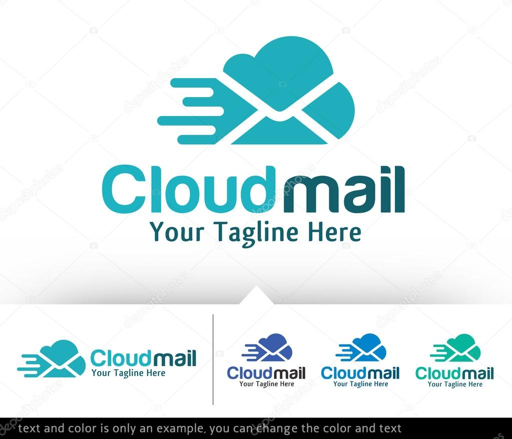 cloud mail logo template design vector stock vector