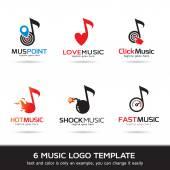 Photo Music Logo Template Design Vector