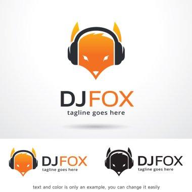 DJ Fox Logo Template Design Vector