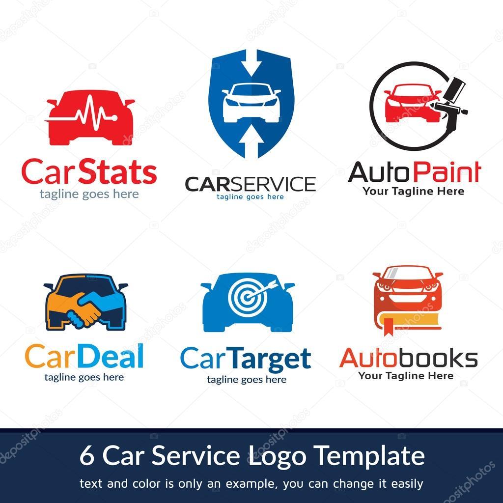 Auto servicio Logo plantilla diseño Vector — Archivo Imágenes ...