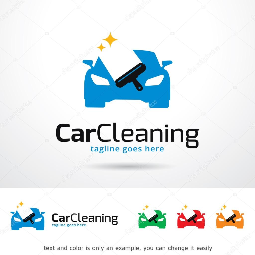 Car Cleaning  Logo Template Design Vector