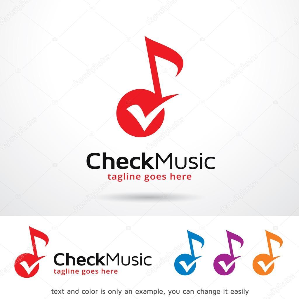 Check Music Logo Template Design Vector