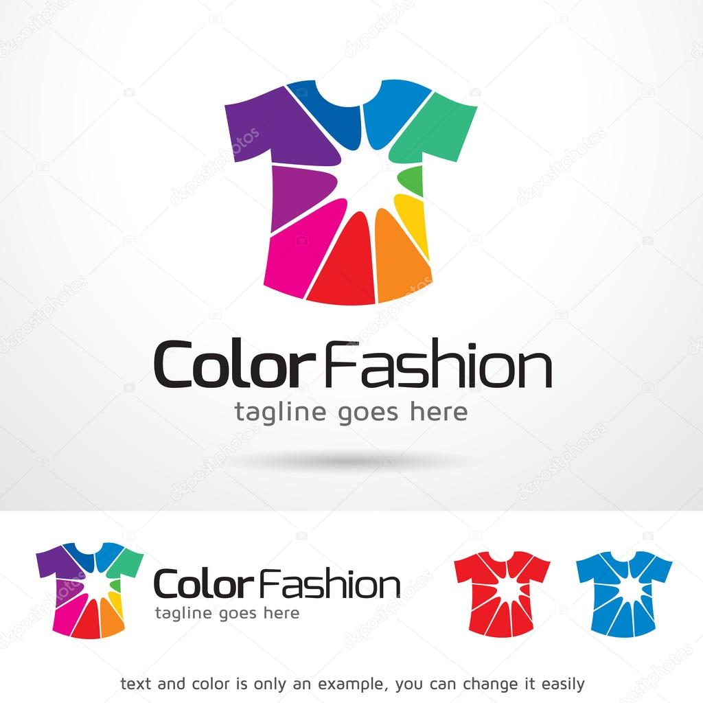 Color Fashion Logo Template Design Vector — Stock Vector ...