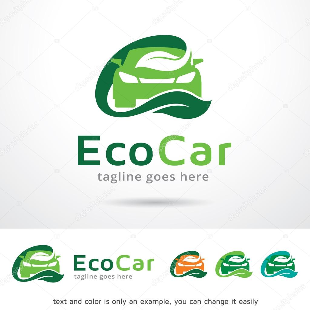 Eco Car Logo Template Design Vector