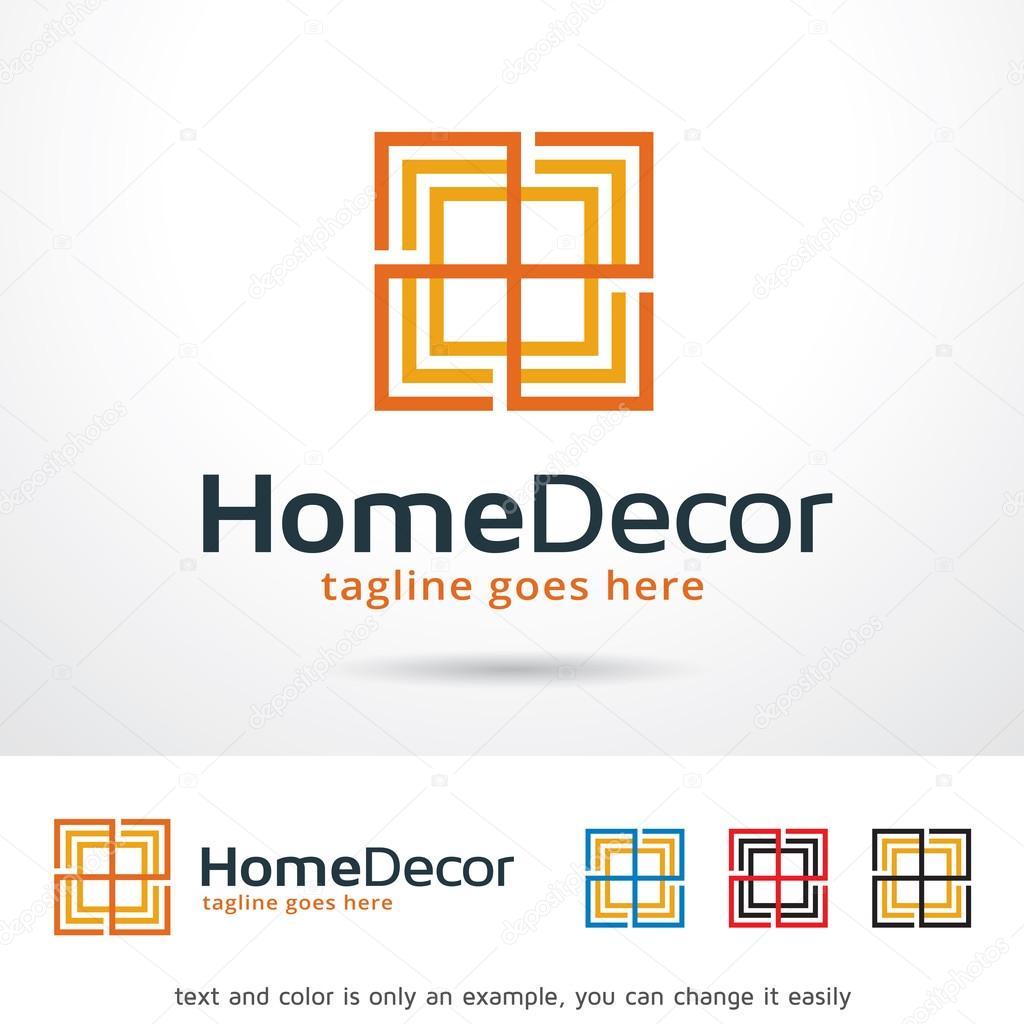 Home Decor Logo Template Design Vector Stock Vector