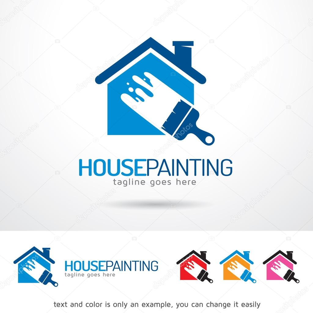 house painting logo template design vector � stock vector