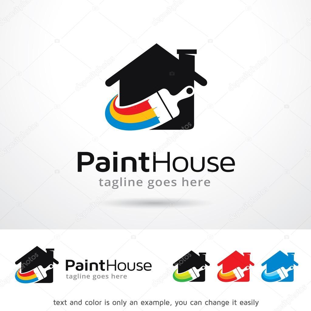 Paint House Logo Template Design Vector
