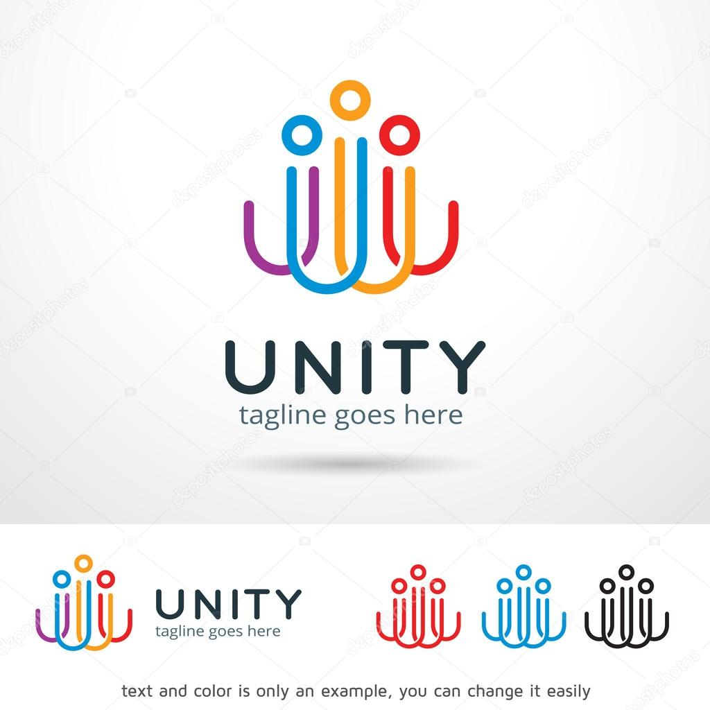 Unity Logo Template Design Vector — Stock Vector © gunaonedesign ...
