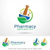 Fotografie Pharmacy Logo Template Design Vector