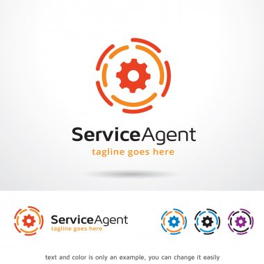 Service Agent Circle Logo Template Design Vector