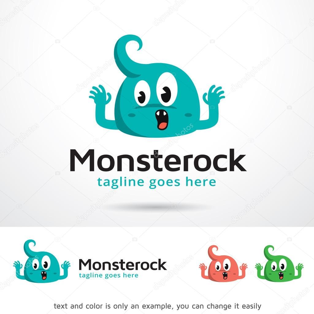 monster rock logo template design vector ストックベクター