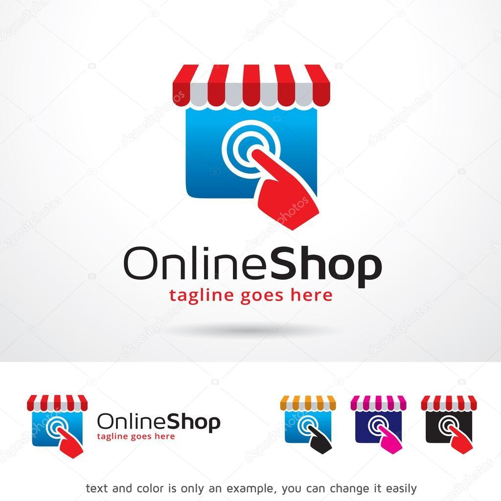 Fotos logo de tienda tienda online logo plantilla for Onlineshop design mobel