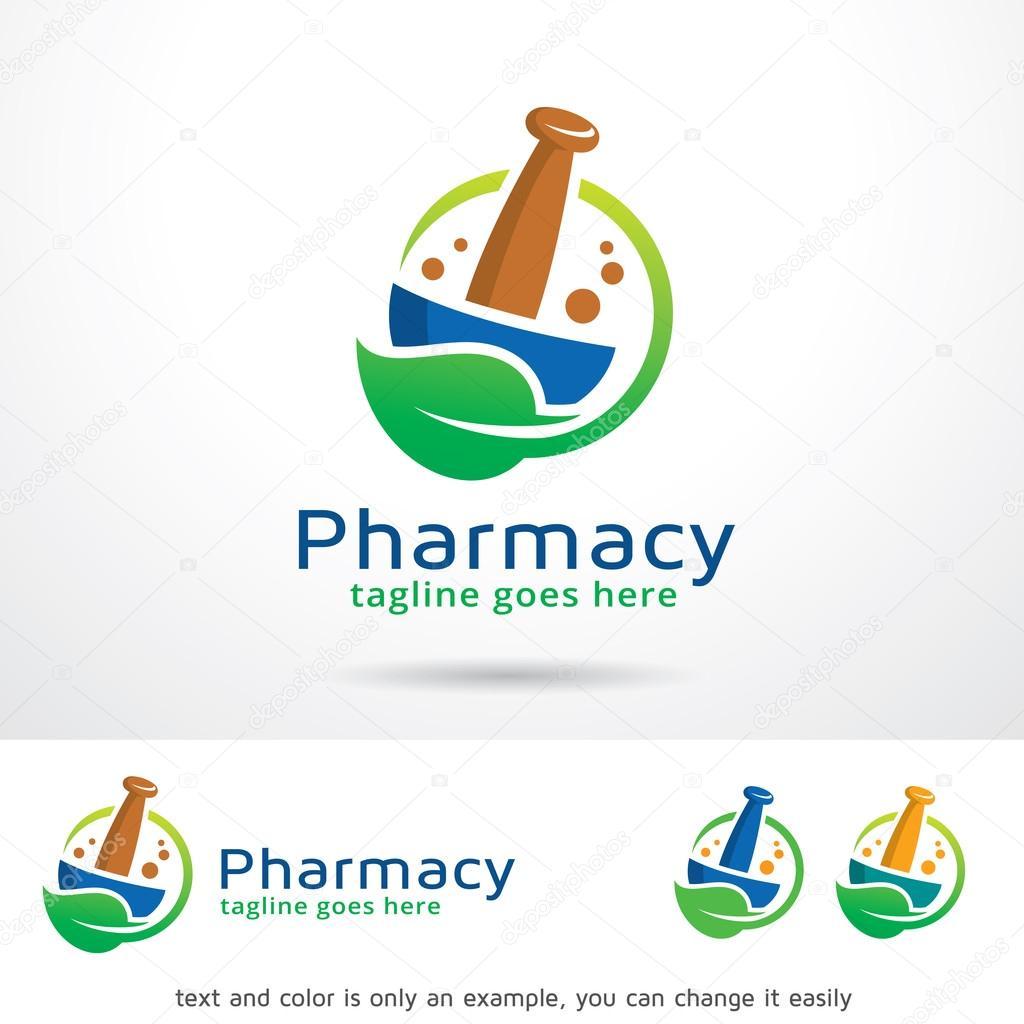 Pharmacy Logo Template Design Vector — Stock Vector © gunaonedesign