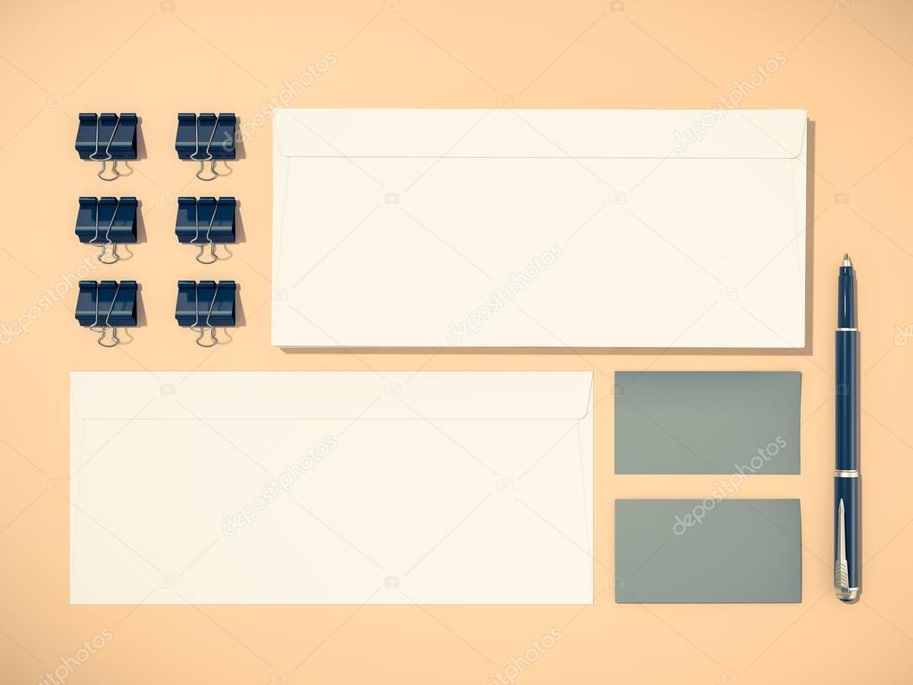 Unternehmensidentität Vorlage Gestaltung Briefpapier Stockfoto