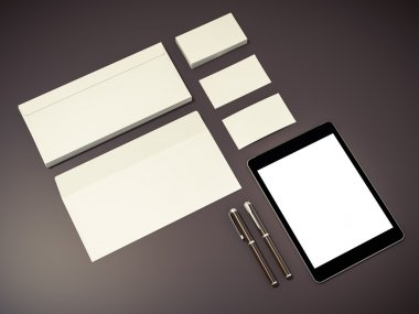 Corporate identity template design stationery