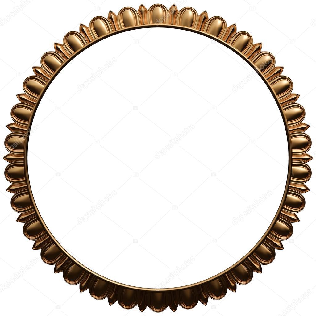 Conjunto de marco de oro. Aislado sobre fondo blanco — Foto de stock ...
