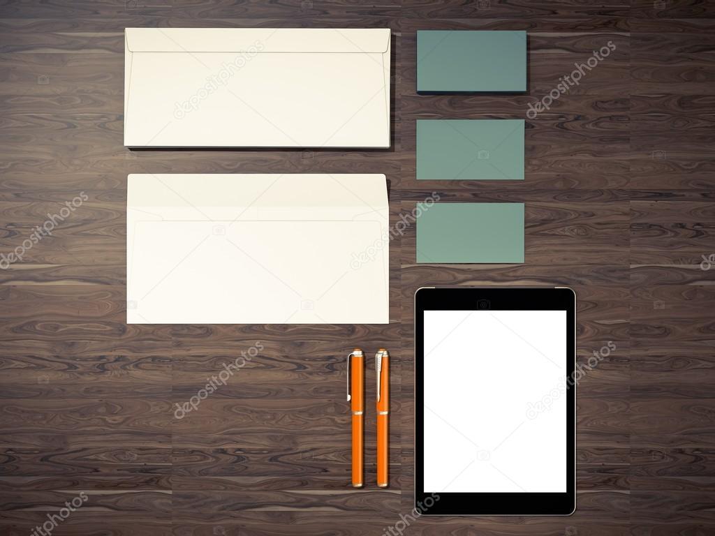 Unternehmensidentität Vorlage Gestaltung Briefpapier — Stockfoto ...